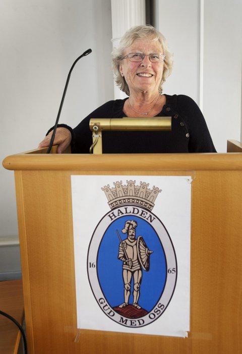 SAMFUNNSENGASJERT: Else-Kathrine Hveding var tidligere politiker i kommunestyret for Halden Høyre.