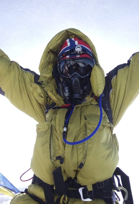 HØYEST: 22. mai 2017 på toppen av Mount Everest.