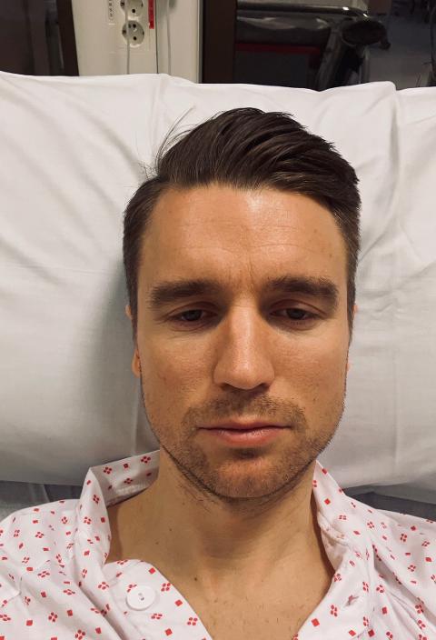 GODT MOT: Christian Gauseth har akkurat blitt operert. Her er han direkte inne fra sykestua.