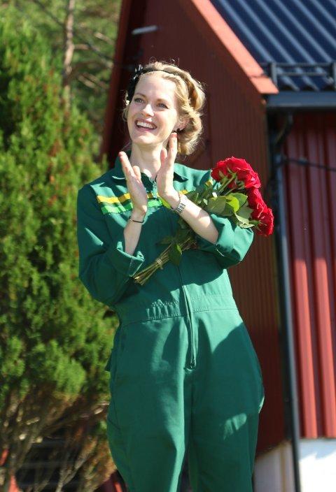 Tonje Terøy driv Soldalen besøksgård i Florø.