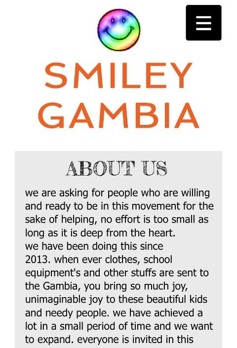VELDEDIG ORGANISASJON: Smiley Gambia er navnet.
