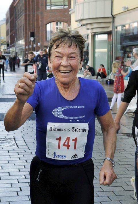Marit Larsen gjennomførte 10 km gateløp Drammen, 12. september 2011