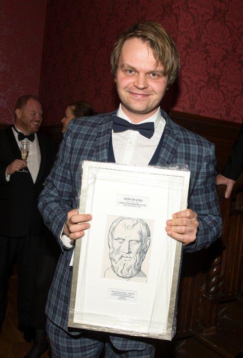 HEDRET: Tom Styve har fått Aristofanes-prisen for 2016.