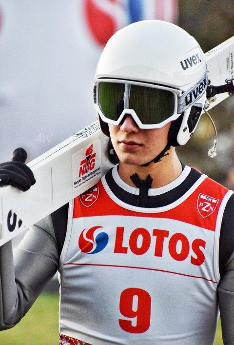 Debuterte: Ole Kristian Baardset klemte til i prøvehoppet da han debuterte i COC-cupen i helgen Litt tøffere ble det i selve konkurransen. Foto: Svein Halvor Moe