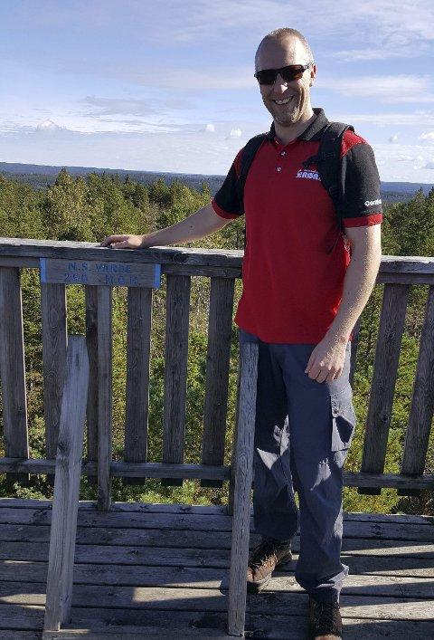 Utsikt: Flott panoramautsikt fra  Nordre Stange varde i Eidsberg.