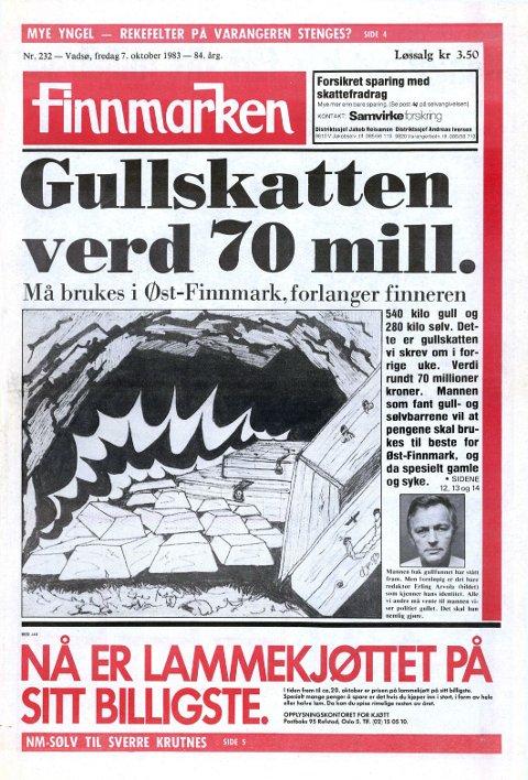 FORSIDEN: Her er Finnmarkens forside fra 7. oktober 1983.