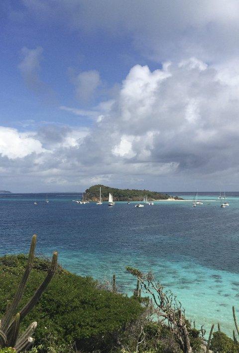 Populær idyll: Iris er en av mange seilbåter som la seilasen til Grenada.