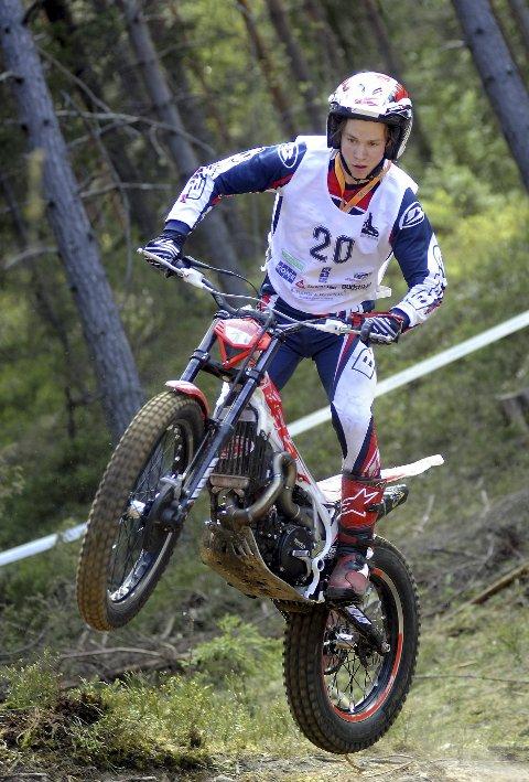 I toppen: Ib Vegard Kåsa Andersen holder fortsatt koken i trialtoppen.