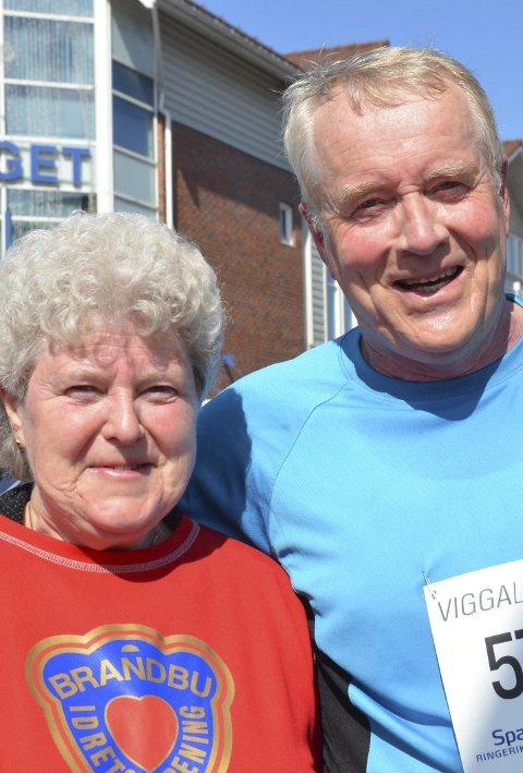 TROFAST: Gunnar Haslerud har deltatt 26 ganger, mens Aud Mona Røste tipper hun har vært med i overkant av 20.