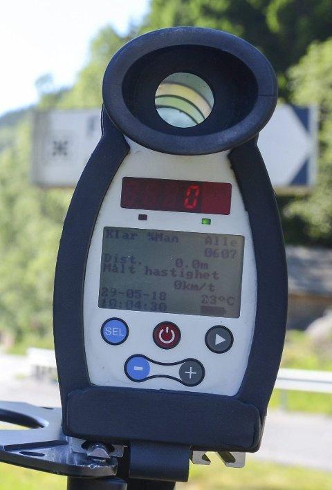 Laserkontroll: Det var i helga to kontrollar i Røldal.
