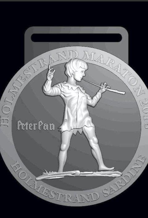 Historisk: Årets maratonmedalje har et kjent motiv. Foto: Holmestrand Maraton