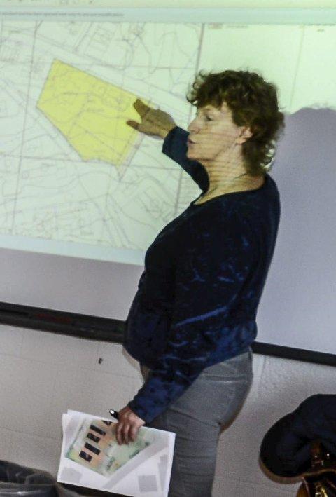 MÅ REGULERES: Plansjef Inger Blikra snakker om ishallen på Skillevollen.