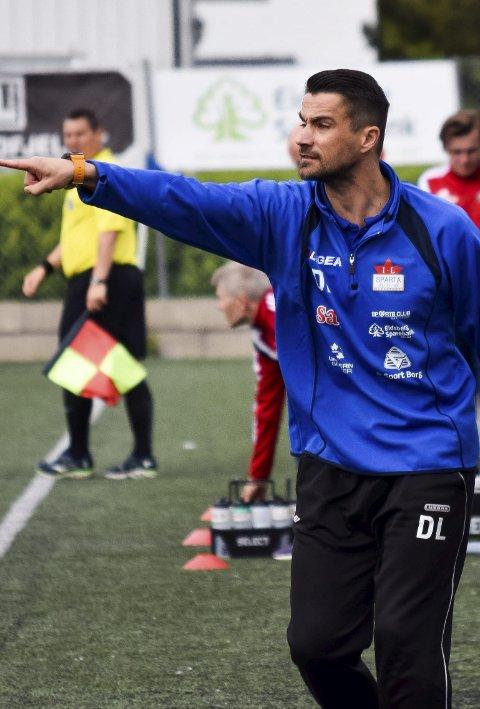 TRENER: Daniel Lubieniecki er tilbake på sidelinjen for A-laget til Sparta neste sesong.