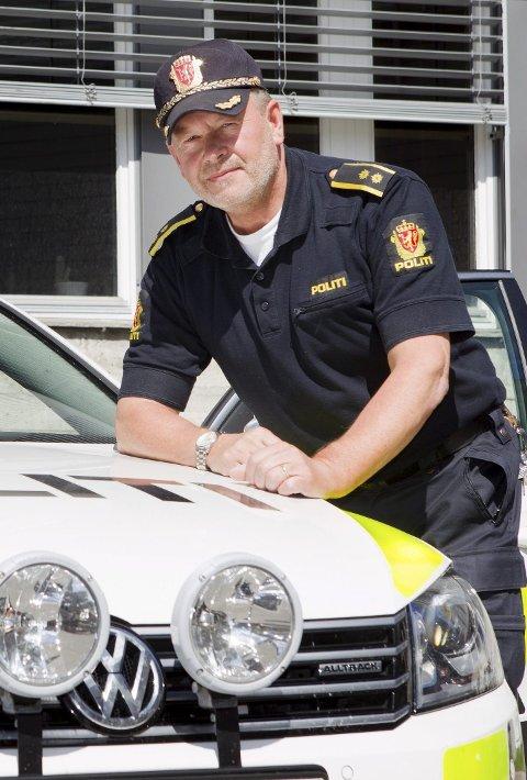 Fornøyd: Politioverbetjent Ove Myrvold