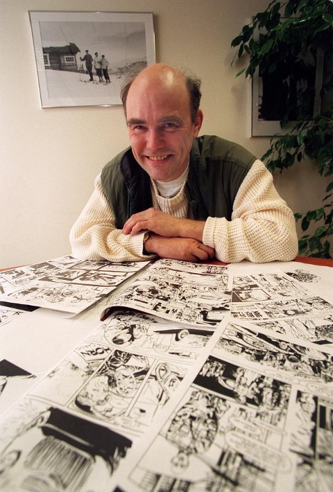 Knut Westad fra Hamar var en av fire skandinaver som tegnet Fantomet.