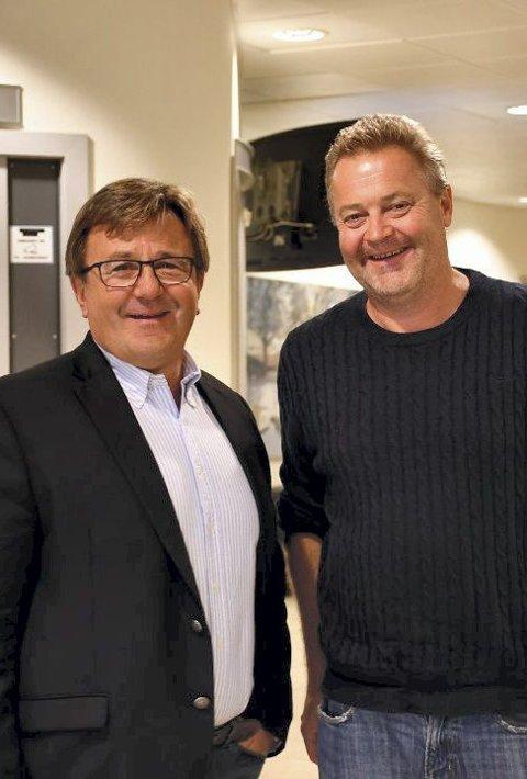 Eiere: Tor Arne Hauge og Eirik Flatebø er to av eierne i Tenk Eiendom AS.