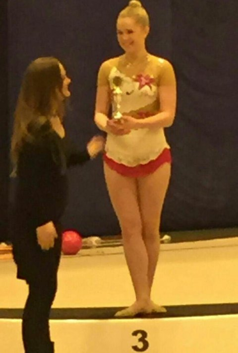 Talentfulle Karoline Abrahamsen fikk velfortjent pallplass.