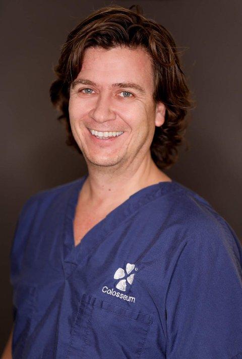 COLOSSEUM TANNLEGE: Finn André Hammer har jobbet som tannlege i over 25 år