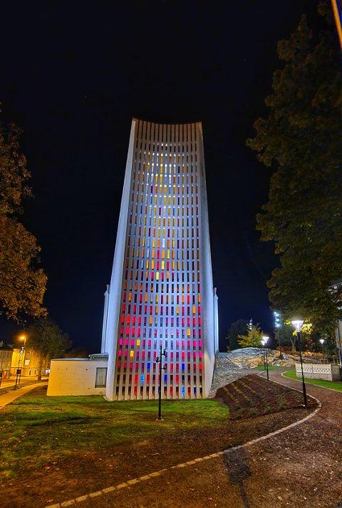 Kirkelandet kirke by night