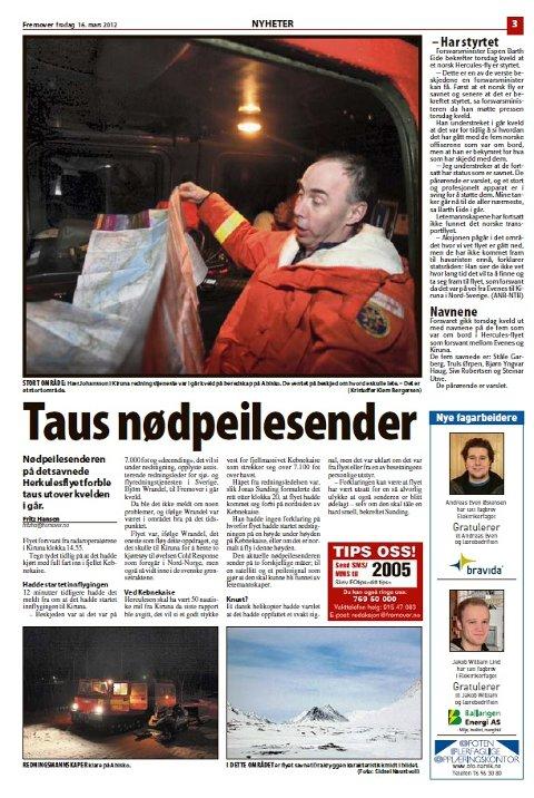 FAKSIMILE: Fremover 16. mars 2012.