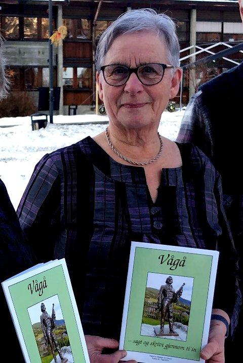 Laurdag skal Mållaget Ivar Kleiven ha Dugurdsmøte. Her ved laier Kari Hølmo Holen.