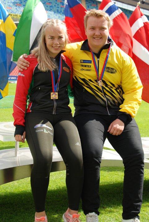STORESLEM:  Helle Henriksen Hvidstwn og Martin Kornerud vant begge slegge i VU-spelen.