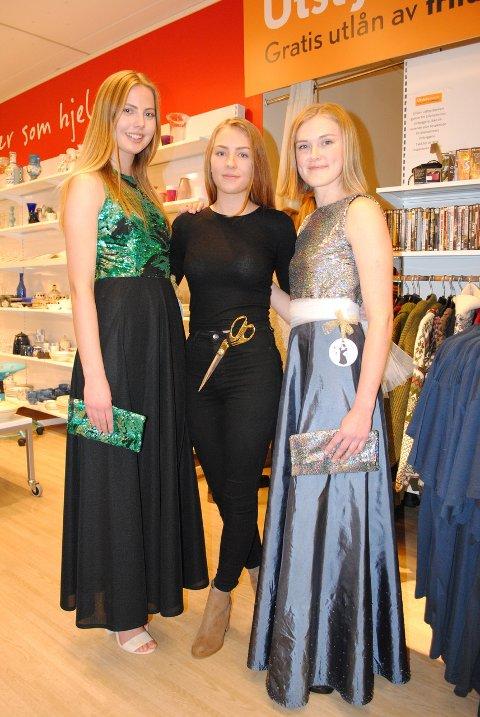 REDESIGN: Synne Kollstad (t.v.), Mari Oline Sundby og Stine Bosheim (t.h.) var modeller.Foto: Solveig M. Thoresen