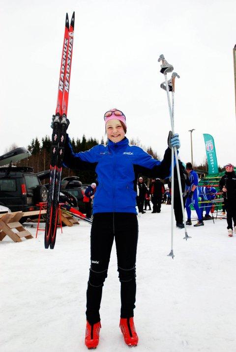 BURSDAGSJUBEL: Ane Appelkvist Stenseth kunne feire tretteårsdagen med bronsemedalje i Midt-norsk mesterskap.  13 år senere er hun klar for mesterskapsdebut på den store arenaen.