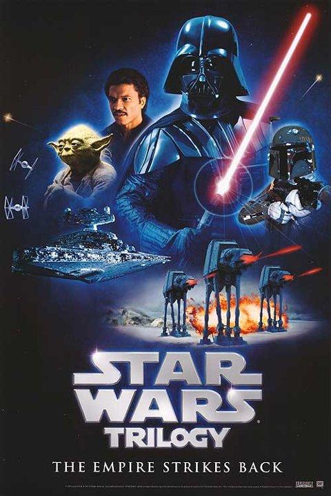 IMPERIALISME: Imperiet slår tilbake er den andre filmen som ble laget fra Star Wars-universet. Den er eldstemann og filmekspert Olivers favoritt fra mytologien. Filmen er fra 1980, mens gutten er fra 2002...
