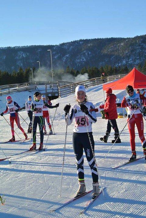 BLE KRETSMESTER: Linnea Winsvold like før start på førsteetappe i stafetten.