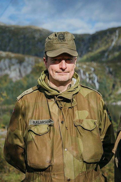 Områdesjef og kaptein Bjørn Ragnar Larsen i HV 16201.