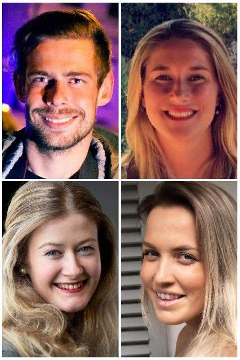 FRA VENSTRE: Vegard Aas, Linn Christoffersen, Mathilde Torsøe og Oda Bekkestad.