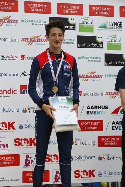 BRONSE: HSKer Guilhem Elias løpt inn til bronsemedalje på sprinten.