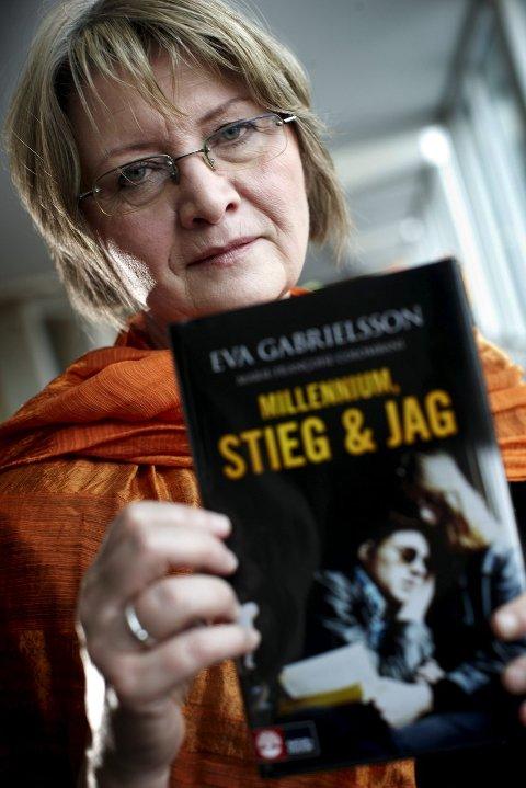 AKTUELL: Eva Gabrielsson, enken etter Stieg Larsson, skal snakke om den nye Millenium-boka i Skudeneshavn. FOTO: NTB SCANPIX