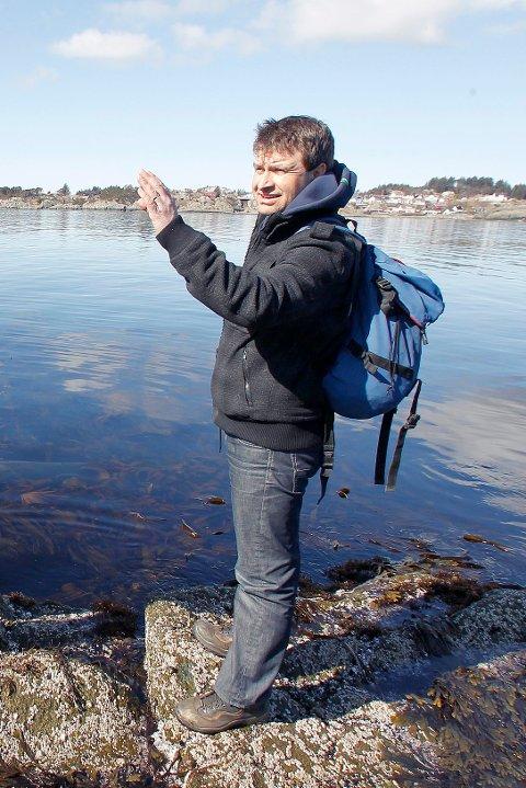 Naturforvalter Peder Christiansen i Karmøy kommune.