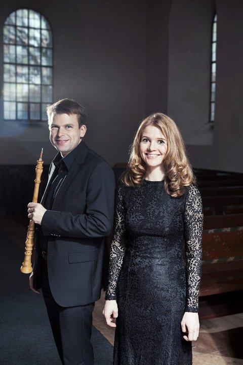 DUO: Jon Fredrik Hjemli og Guro Evensen Hjemli fra Ådalsbruk utgjør Nivalis Barokk.