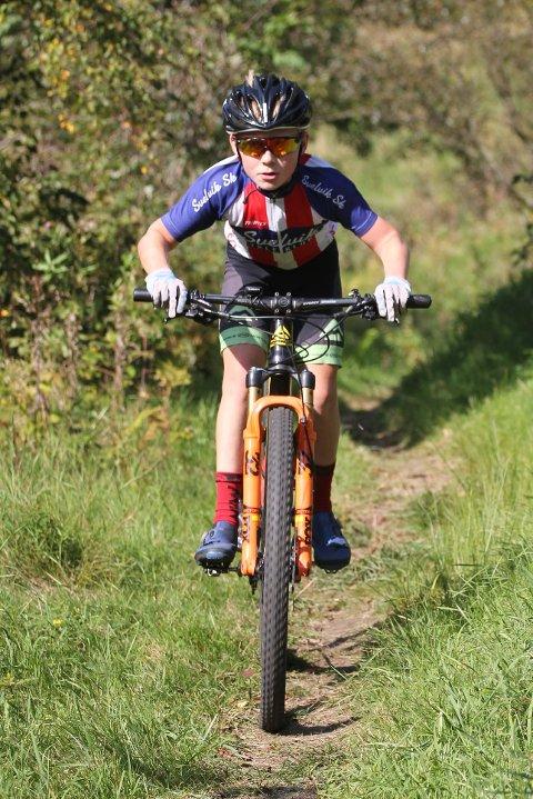 Ole Christian Haug, en av de unge lovende i Svelvik sykleklubb.