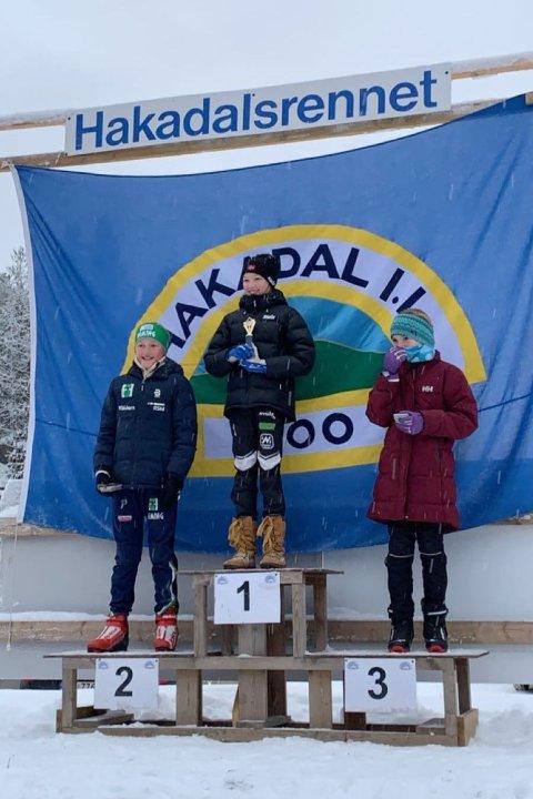Mia Minge Johannesen har vunnet mange renn i vinter - her fra Hakadal i desember.