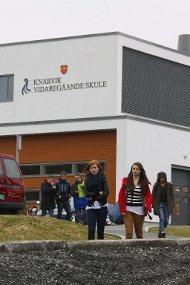 Fleire klassar ved Knarvik vidaregåande skule er utan lærar i morgontimane mandag. Arkivfoto