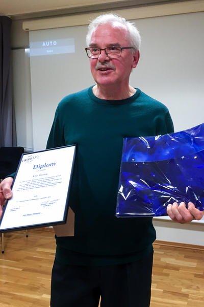 Knut Storteig vant årets Frivillighetspris for sin innsats i Bodø og Omegn Turitsforening.