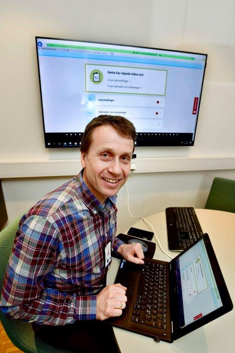 Eldar Hovda. Avdelingsleder ved Husbanken i Drammen. Husbanken har tatt i bruk digital sykemelding i samarbeid med NAV