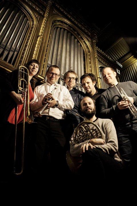 NyNorsk Messingkvintett (bildet) og pianist Anders Dahl vil bidra med kammermusikk under årets Egil Hovland-festival.