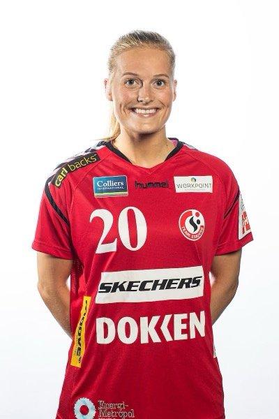 PÅ ÅRETS LAG: Marit Røsberg Jacobsen, håndballandslagsspiller fra Narvik.