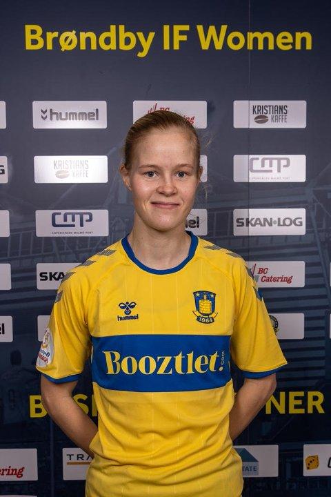 TAP: Det ble tap for Katrine Winnem Jørgensen fra Narvik og danske Brøndby i Champions League-kampen mot Lyon onsdag.