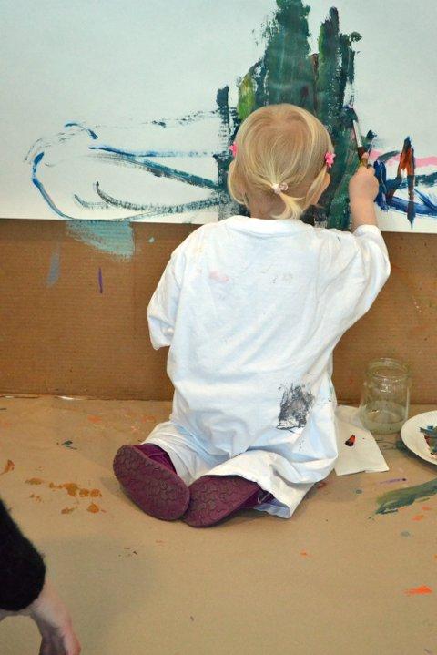 Familiedag i Lillehammer kunstmuseum.