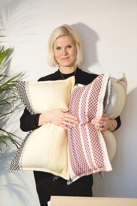 FRAM OSLO: Annette Hoff fra Lillehammer mener  norsk design fortjener internasjonalt ry.