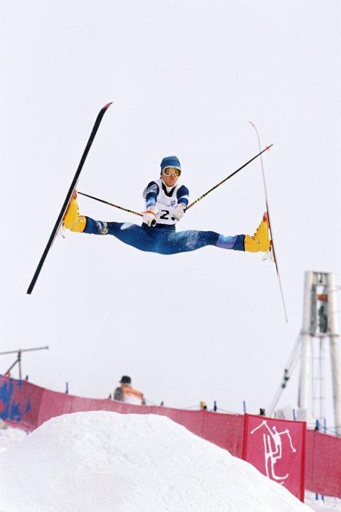TENNER ILDEN: I 1994 vant Stine Lise Hattestad kulekjøring. Under jubileumsshowet lørdag tenner hun fakkelen i Lysgårdsbakken.