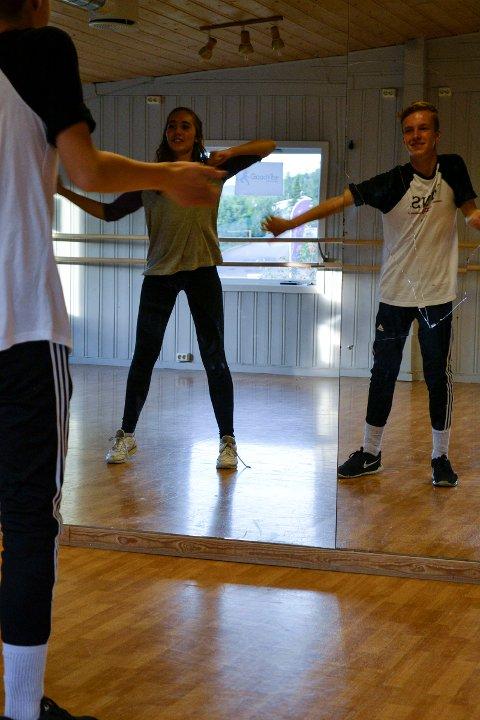 Danseduo: Julie Aanekre og Sander Skjerva deler samme lidenskap for dans.
