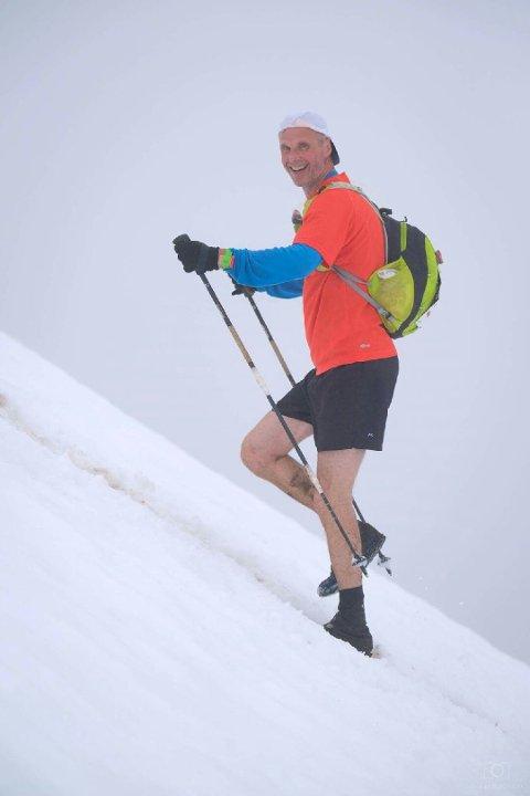 HORNINDAL: Gunnar i aksjon Hornindal Rundt, et løp på 75 kilometer. Foto: Ole Eltvik