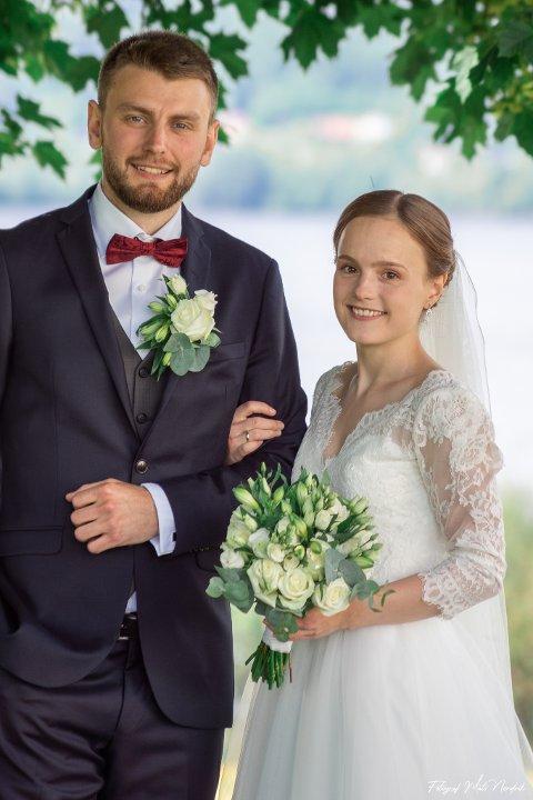 GIFT: Den 11. juli giftet Mari Østvær Tengs og Lars Os Tengs seg i Nes Kirke.